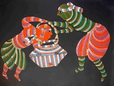 Gond Painting - Npt 05 by Narmada Prasad Tekam