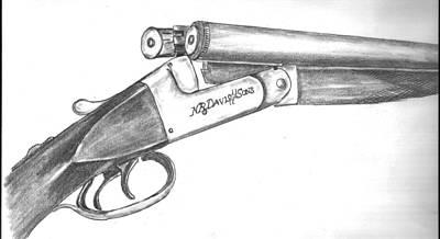 Drawing - Nr Davis And Son 12 Guage by Kevin Callahan
