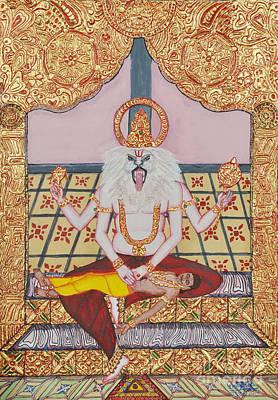 Incarnation Painting - Nrsimhamurti by Pratyasha Nithin