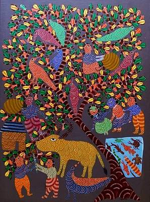 Gond Art Gallery Painting - Ns 23 by Nankusia Shyam