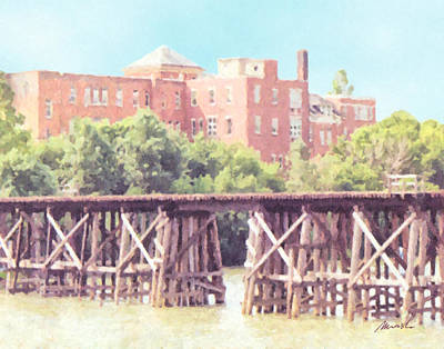 Photograph - Ns And T Trestle Railroad Bridge by The Art of Marsha Charlebois