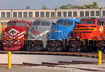 Photograph - Ns Heritage Locomotives Family Photographs 16 by Joseph C Hinson Photography