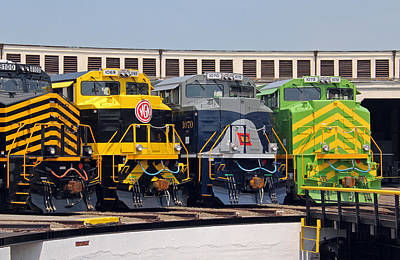 Photograph - Ns Heritage Locomotives Family Photographs 25 by Joseph C Hinson Photography