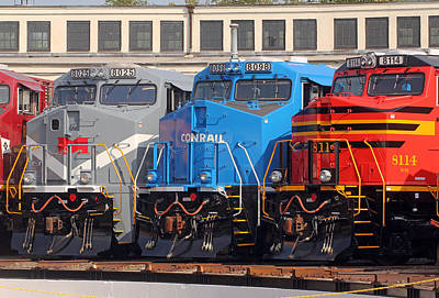 Photograph - Ns Heritage Locomotives Family Photographs 5 by Joseph C Hinson Photography