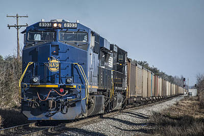 Ns Heritage Unit Norfolk And Western 8103 At Madisonville Ky Art Print