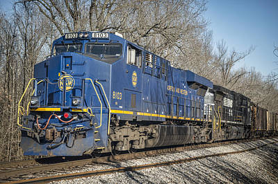 Ns Heritage Unit Norfolk And Western 8103 At Pond River Crossing Art Print