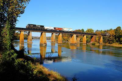 Photograph - Ns On Csx Bridge by Joseph C Hinson Photography