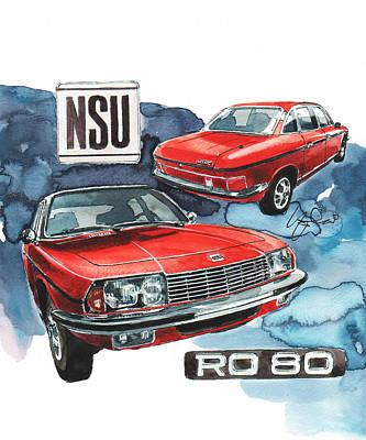 80 Painting - Nsu Ro 80 by Yoshiharu Miyakawa