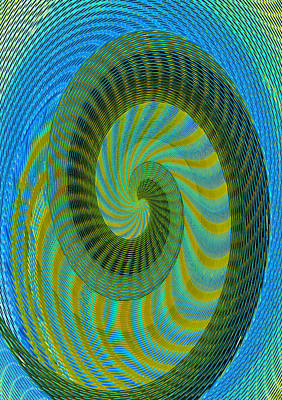 Digital Art - Spirals Of The Nautilus by David Lee Thompson
