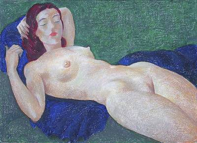 Female Painting - Nu 11 by Leonid Petrushin