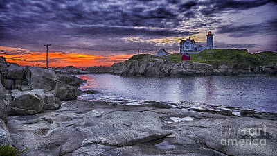 Photograph - Nubble Lighthouse Maine by Steven Ralser