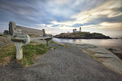 Nubble Bench Art Print by Eric Gendron