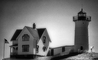 Nubble In Maine Art Print by Skip Willits