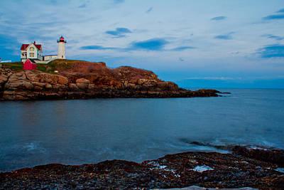 Nubble Light At Cape Neddick Maine Art Print