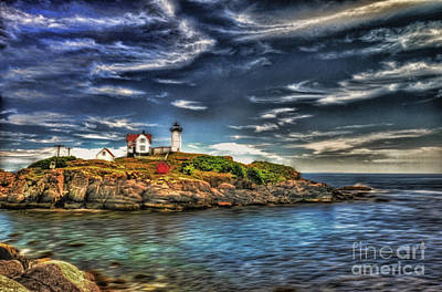 Lighthouse Photograph - Nubble Light House by Arnie Goldstein