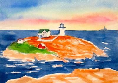Nubble Light Painting - Nubble Light House by Rebecca Gottesman
