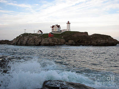 Nubble Light Landscape Art Print