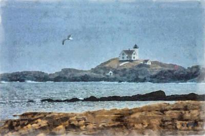 Nubble Light On Cape Neddick Art Print by Jeff Folger