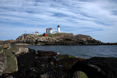 Photograph - Nubble Light On The Rocks by Caroline Stella