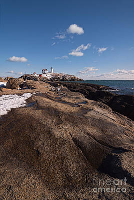 Nubble Light Portrait Art Print