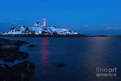 Photograph - Nubble Light Reflections by Sharon Seaward
