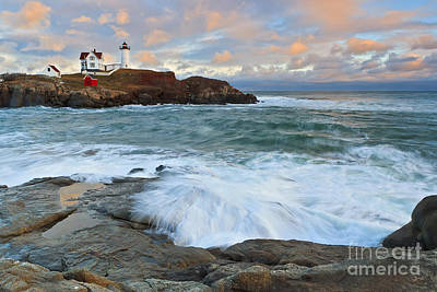 Coastal Maine Photograph - Nubble Light Sunset by Katherine Gendreau