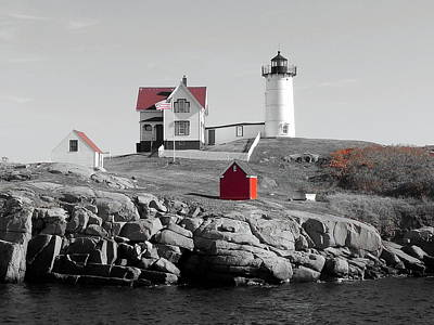 Nubble Light Art Print by Timothy Caron