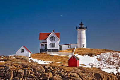 Photograph - Nubble Lighthouse 3 by Joann Vitali