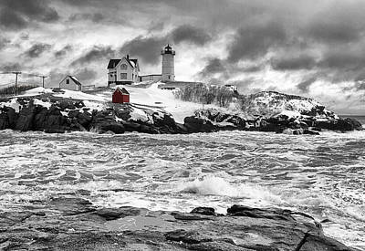 Nubble Lighthouse After The Storm Art Print