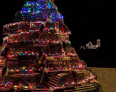Photograph - Nubble Lighthouse At Christmas by John Pike