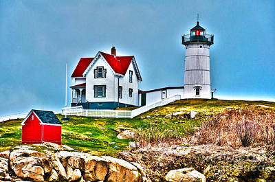 Photograph - Nubble Lighthouse Cape Neddick Maine 2 by Glenn Gordon