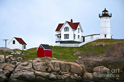 Photograph - Nubble Lighthouse Cape Neddick Maine 3 by Glenn Gordon