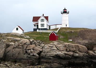 Photograph - Nubble Lighthouse Cape Neddick Maine 4 by Glenn Gordon