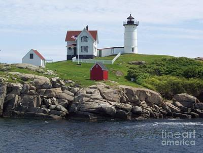Nubble Lighthouse In Maine Art Print