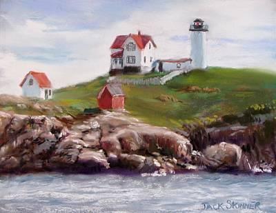 Nubble Lighthouse In Pastel Art Print