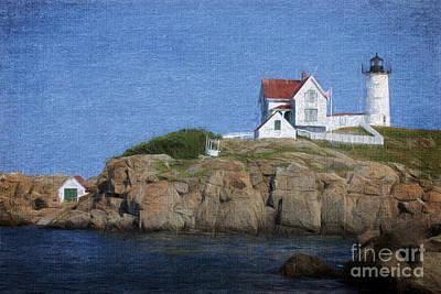 Nubble Lighthouse Art Print by Jayne Carney