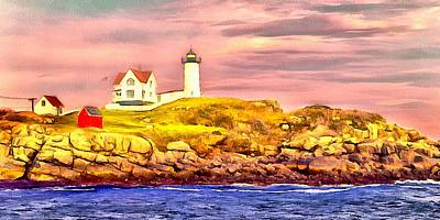 Nubble Lighthouse Art Print by Kathryn Bailey
