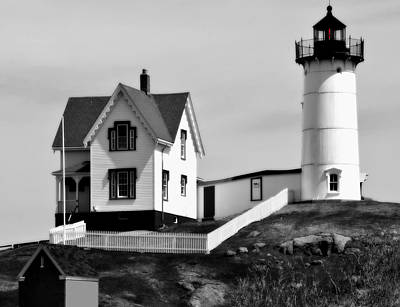 Photograph - Nubble Lighthouse Maine by Caroline Stella