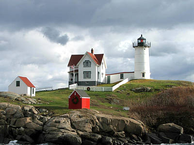 Photograph - Nubble Lighthouse by Nancy Landry