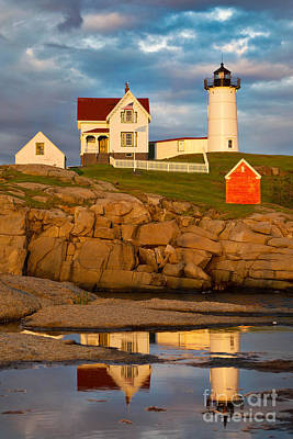 Art Print featuring the photograph Nubble Lighthouse No 1 by Jerry Fornarotto