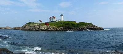 Blue Photograph - Nubble Lighthouse by Photographic Arts And Design Studio