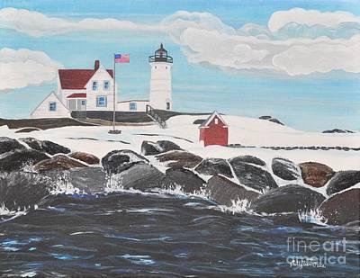 Nubble Lighthouse Original by Sally Rice