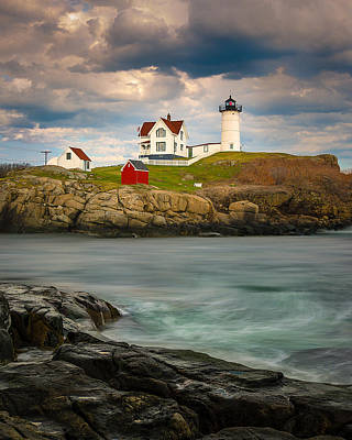 Nubble Lighthouse Print by Steve Zimic