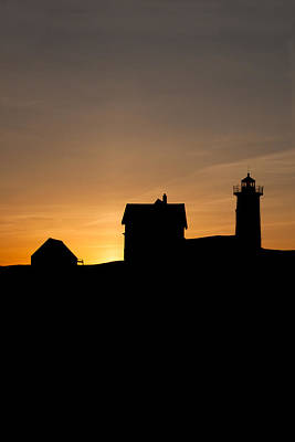 Nubble Lighthouse Sunrise March 20th Original by Sherry Boylan