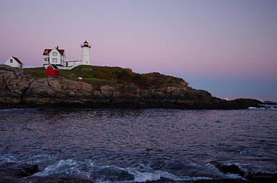 Photograph - Nubble Lighthouse With Waves by Crystal Wightman