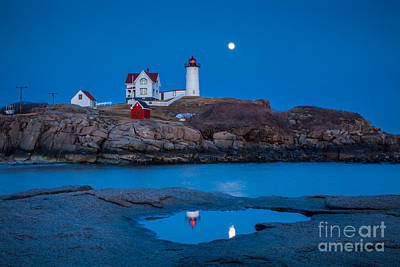 Photograph - Nubble Moon by Susan Cole Kelly