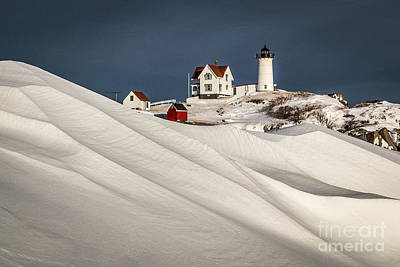 Photograph - Nubble Snow Drift by Benjamin Williamson