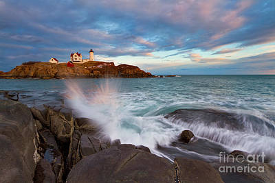 Nubble Splash Art Print by Katherine Gendreau