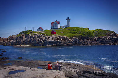 Nubble Summer Art Print by Rick Bragan