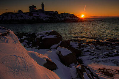 Wall Art - Photograph - Nubble Sunrise by William Sanger